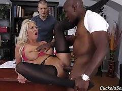Despite the size of his massive cock, Lexi will offer up all three of her willing holes in order to fully satisfy her black lover.