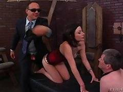 Dominating Hottie Invites Slave`s New Boss To Their Session 3
