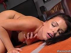 Even with her Super Whore powers, Adriana can barely fit her mouth around Lex`s monster meat, and her poor cunt and ripe asshole take a merciless pounding.