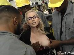 She`s going to open all her holes up for the fellahs, and she`s going to make sure the cum gets blasted in her cunt or down her throat.