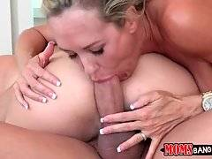 Milf And Young Cutie Skillfully Lead Guy To Cumshot 1