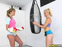 Charlotte Stokely and Kenna had a workout session together and they immediately realized how it was simultaneously a great AND horrible idea.